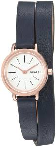 [スカーゲン]Skagen 腕時計 Hagen Mini Blue Leather Double Wrap Watch SKW2598 レディース