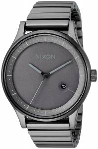 [ニクソン]NIXON  'Station' Quartz Stainless Steel Casual Watch, Color:Grey A1160632-00