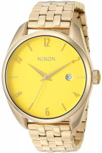 [ニクソン]NIXON  'Bullet' Quartz Stainless Steel Casual Watch, Color:GoldToned A4182627-00