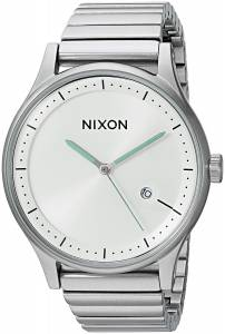 [ニクソン]NIXON  'Station' Quartz Stainless Steel Casual Watch, Color:SilverToned A1160100-00
