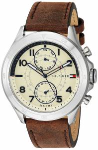 [トミー ヒルフィガー]Tommy Hilfiger Quartz Stainless Steel and Leather Casual 1791344