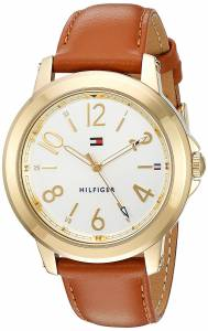 [トミー ヒルフィガー]Tommy Hilfiger 'SPORT' Quartz GoldTone and Leather Casual 1781754