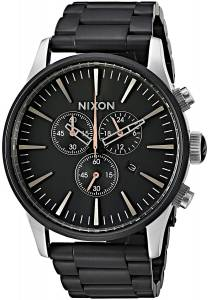 [ニクソン]NIXON  'Sentry Chrono' Quartz Stainless Steel Casual Watch, Color:Black A3862541-00