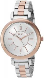 [ダナキャラン]DKNY 'Ellington' Quartz Stainless Steel Casual Watch, Color:SilverToned NY2585