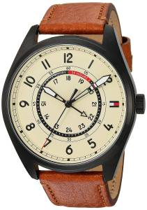 [トミー ヒルフィガー]Tommy Hilfiger 'Sport' Quartz Resin and Leather Casual Watch, 1791372