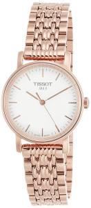 [ティソ]Tissot 腕時計 Silver Dial Rose Gold Tone Stainless Steel Watch T1092103303100