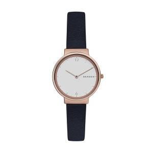 [スカーゲン]Skagen 腕時計 Ancher Blue Leather Watch SKW2608 レディース