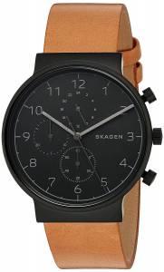 [スカーゲン]Skagen 腕時計 Ancher Brown Leather Chronograph Watch SKW6359 メンズ