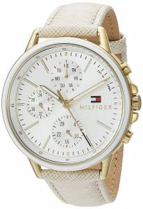 [トミー ヒルフィガー]Tommy Hilfiger 'Sport' Quartz GoldTone and Leather Casual 1781790