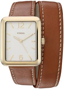 [フォッシル]Fossil  Atwater ThreeHand Luggage Leather Wrap Watch ES4159 レディース
