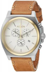 [ニクソン]NIXON 'Time Teller Chrono' Quartz Stainless Steel and Leather Casual A11642548-00