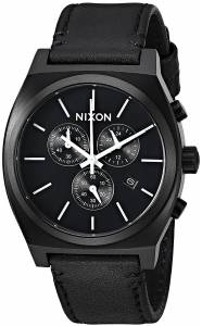 [ニクソン]NIXON 'Time Teller Chrono' Quartz Stainless Steel and Leather Casual A1164756-00