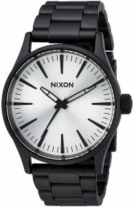 [ニクソン]NIXON  'Sentry 38 SS' Quartz Stainless Steel Casual Watch, Color:Black A4502345-00