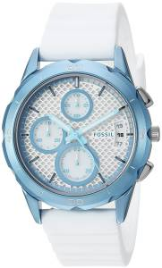 [フォッシル]Fossil 'Modern Pursuit' Quartz Metal and Silicone Casual Watch, Color:White ES4222