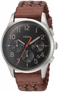 [フォッシル]Fossil 腕時計 Vintage 54 Chronograph Brown Leather Watch FS5294 メンズ