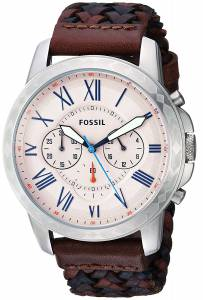 [フォッシル]Fossil 腕時計 Grant Chronograph MultiColored Leather Watch FS5298 メンズ