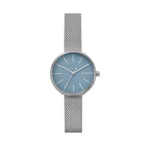 [スカーゲン]Skagen 腕時計 Hald Three Hand Silver Plated Watch SKW2622 レディース