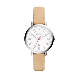 [フォッシル]Fossil  Jacqueline ThreeHand Date Nude Leather Watch ES4206 レディース