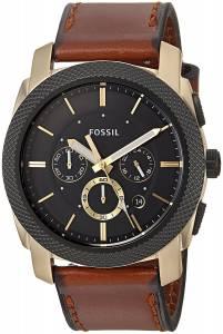 [フォッシル]Fossil 腕時計 Machine Chronograph Light Brown Leather Watch FS5322 メンズ