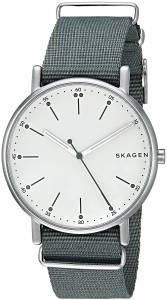 [スカーゲン]Skagen  'Signatur' Quartz Stainless Steel Casual Watch, Color:Green SKW6377