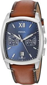 [フォッシル]Fossil  'Knox Dual Time' Quartz Stainless Steel and Leather Casual Watch, FS5354