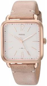 [フォッシル]Fossil 'Micah' Quartz Stainless Steel and Leather Casual Watch, Color:Beige ES4254