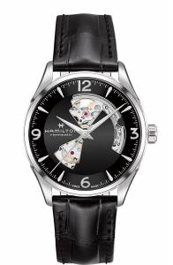 [ハミルトン]Hamilton  Black 42mm StainlessSteel Jazzmaster Open Heart Auto Watch H32705731