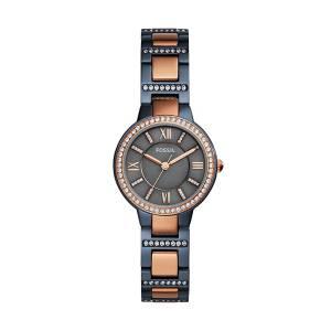 [フォッシル]Fossil  'Virginia' Quartz Stainless Steel Casual Watch, Color:Blue ES4298