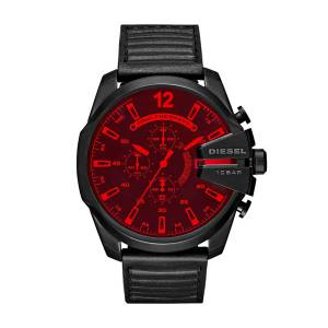 [ディーゼル]Diesel  'Mega Chief' Quartz Stainless Steel and Leather Casual Watch, DZ4460