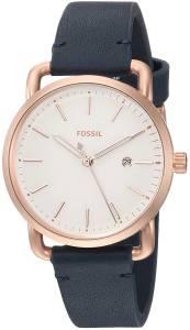 [フォッシル]Fossil  'Commuter' Quartz Stainless Steel and Leather Casual Watch, ES4334