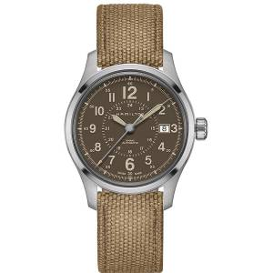 [ハミルトン]Hamilton  Brown 40mm StainlessSteel Khaki Field Auto Watch H70305993 メンズ