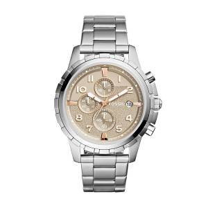 [フォッシル]Fossil  'Dean' Quartz Stainless Steel Casual Watch, Color:SilverToned FS5339