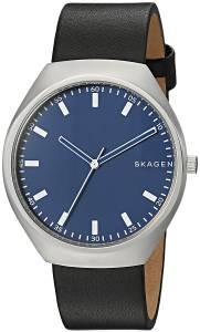 [スカーゲン]Skagen 'Grenen' Quartz Stainless Steel and Leather Casual Watch, SKW6385