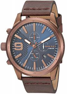 [ディーゼル]Diesel  'Rasp Chrono 46' Quartz Stainless Steel and Leather Casual Watch, DZ4455