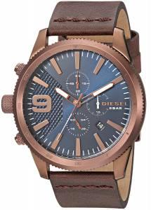 [ディーゼル]Diesel  'Rasp Chrono 46' Quartz Stainless Steel and Leather Casual Watch, DZ4455