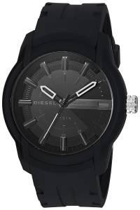 [ディーゼル]Diesel  'Armbar' Quartz Resin and Silicone Casual Watch, Color:Black DZ1830