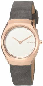 [スカーゲン]Skagen  'Asta' Quartz Stainless Steel and Leather Casual Watch, SKW2652