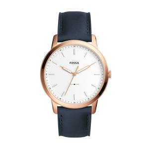 [フォッシル]Fossil 'Minimalist' Quartz Stainless Steel and Leather Casual Watch, FS5371