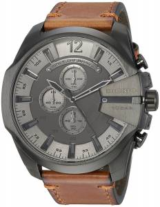 [ディーゼル]Diesel  'Mega Chief' Quartz Stainless Steel and Leather Casual Watch, DZ4463