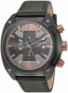 [ディーゼル]Diesel  'Overflow' Quartz Stainless Steel and Leather Casual Watch, DZ4462