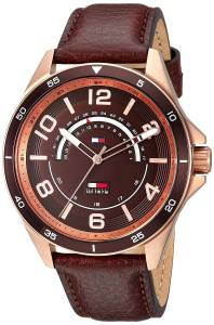 [トミー ヒルフィガー]Tommy Hilfiger 'SPORT' Quartz Gold and Leather Casual Watch, 1791392