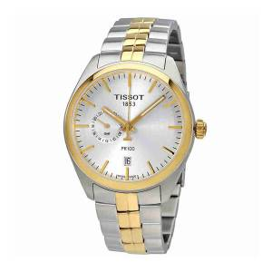 [ティソ]Tissot  Watch PR 100 Gent Dualtime Silver/Gold 39mm Stainless Steel T101.452.22.031.00