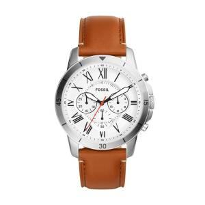 [フォッシル]Fossil  'Grant Sport' Quartz Stainless Steel and Leather Casual Watch, FS5343