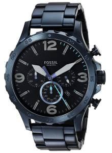 [フォッシル]Fossil  '50mm Nate' Quartz Stainless Steel Casual Watch, Color:Blue JR1530