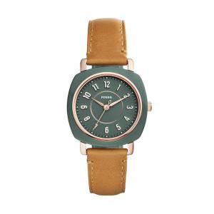 [フォッシル]Fossil  'Idealist Slim' Quartz Resin and Leather Casual Watch, Color:Brown ES4279