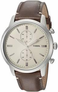 [フォッシル]Fossil  '44mm Townsman' Quartz Stainless Steel and Leather Casual Watch, FS5350