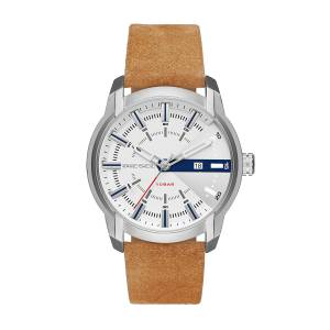 [ディーゼル]Diesel 腕時計 Armbar Silver Dial Brown Leather Watch DZ1783 メンズ