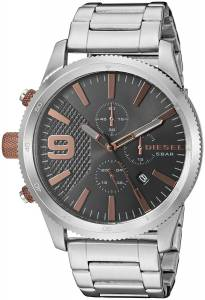 [ディーゼル]Diesel  'Rasp Chrono 46' Quartz Stainless Steel Casual Watch, DZ4457 メンズ