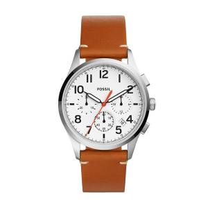 [フォッシル]Fossil 'Vintage 54 Chrono Timer' Quartz Stainless Steel and Leather Casual FS5360