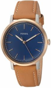 [フォッシル]Fossil 'Neely' Quartz Stainless Steel and Leather Casual Watch, Color:Brown ES4255